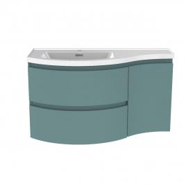 Meuble de salle de bain Verso vert mat 90 x 44 x 49,5 cm ALLIBERT