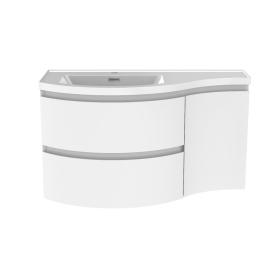 Meuble de salle de bain Verso blanc brillant 90 x 44 x 49,5 cm ALLIBERT