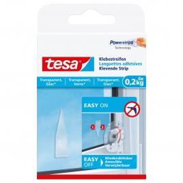 Languette adhésive pour verre et surface transparente 0,2 kg TESA