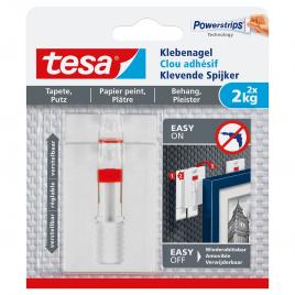 Clou adhésif ajustable pour papier peint et plâtre 2 kg TESA