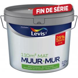 Peinture murale intérieure blanche mate 8 + 2 L LEVIS