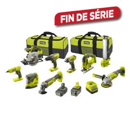 Pack de 9 machines sur batterie One+ R18CK9-252S 18 V RYOBI