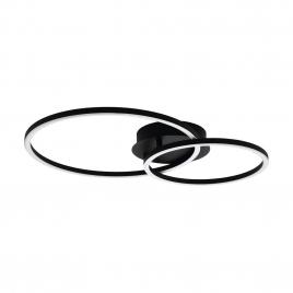 Plafonnier Palmaves LED 21,6 W noir EGLO