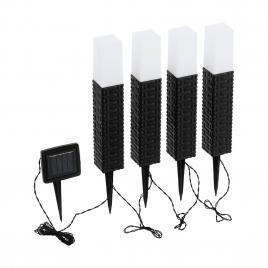 Lampe de jardin solaire LED 0,24 W 4 pièces EGLO