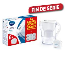 Carafe filtrante Marella Cool White avec 6 cartouches BRITA