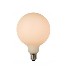 Ampoule à filament LED Bulb E27 8 W Ø 12,5 cm dimmable opalin LUCIDE