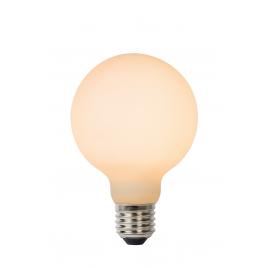 Ampoule à filament LED Bulb E27 8 W Ø 8 cm dimmable opalin LUCIDE