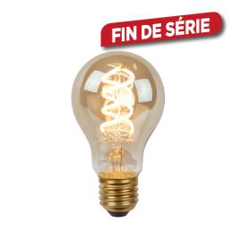 Ampoule à filament LED Bulb E27 5 W Ø 6 cm dimmable fumé LUCIDE