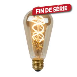 Ampoule à filament LED Bulb E27 5 W Ø 6,4 cm dimmable fumé LUCIDE