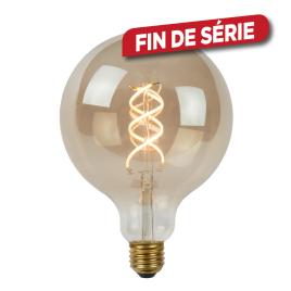 Ampoule à filament LED Bulb E27 5 W Ø 12,5 cm dimmable fumé LUCIDE