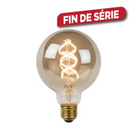 Ampoule à filament LED Bulb E27 5 W Ø 9,5 cm dimmable fumé LUCIDE