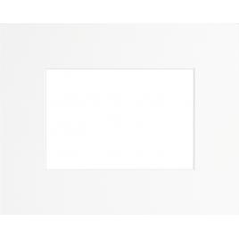 Passe-partout blanc 30 x 20 cm avec ouverture intérieure de 19 x 13 cm