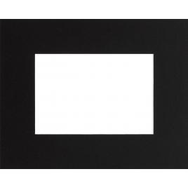 Passe-partout noir 30 x 20 cm avec ouverture intérieure de 19 x 13 cm