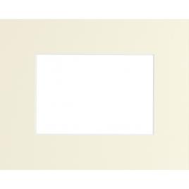 Passe-partout crème 70 x 50 cm avec ouverture intérieure de 50 x 40 cm