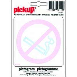 Pictogramme adhésif inversé vinyle 10 x 10 cm Défense de fumer