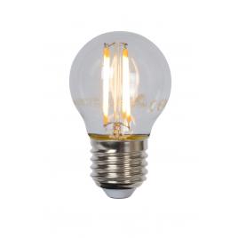 Ampoule à filament LED E27 4 W Ø 4,5 cm dimmable transparente LUCIDE