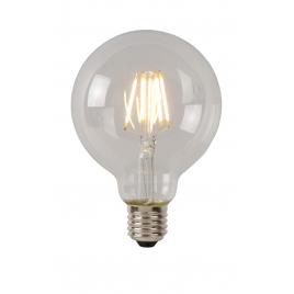 Ampoule à filament LED E27 5W Ø 9,5 cm dimmable transparente LUCIDE