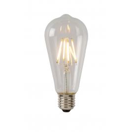 Ampoule à filament LED E27 5 W Ø 6,4 cm dimmable transparente LUCIDE