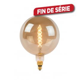 Ampoule à filament Giant Bulb LED E27 10 W Ø 25 cm dimmable fumée LUCIDE