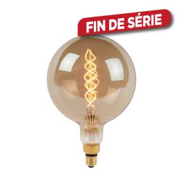 Ampoule à filament Giant Bulb LED E27 8 W Ø 20 cm dimmable fumée LUCIDE