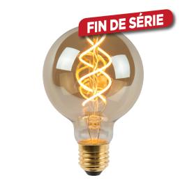 Ampoule à filament Giant Bulb LED E27 5W Ø 8 cm dimmable fumée LUCIDE