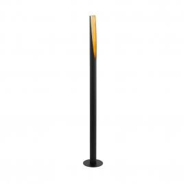 Lampadaire Barbotto GU10 4,5 W noir et or EGLO