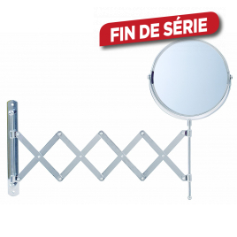Miroir extensible grossissant x2 diam. 15 cm