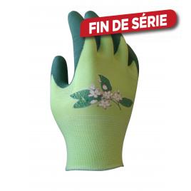 Paire de gants Lilly Loop Green en caoutchouc taille 7