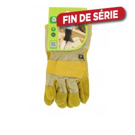 Paire de gants pour gros travaux de jardin en cuir taille 9 .B