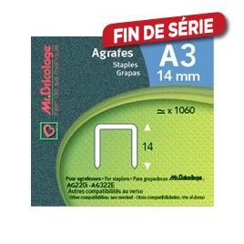 Agrafe A3 - - 14 mm - MR BRICOLAGE