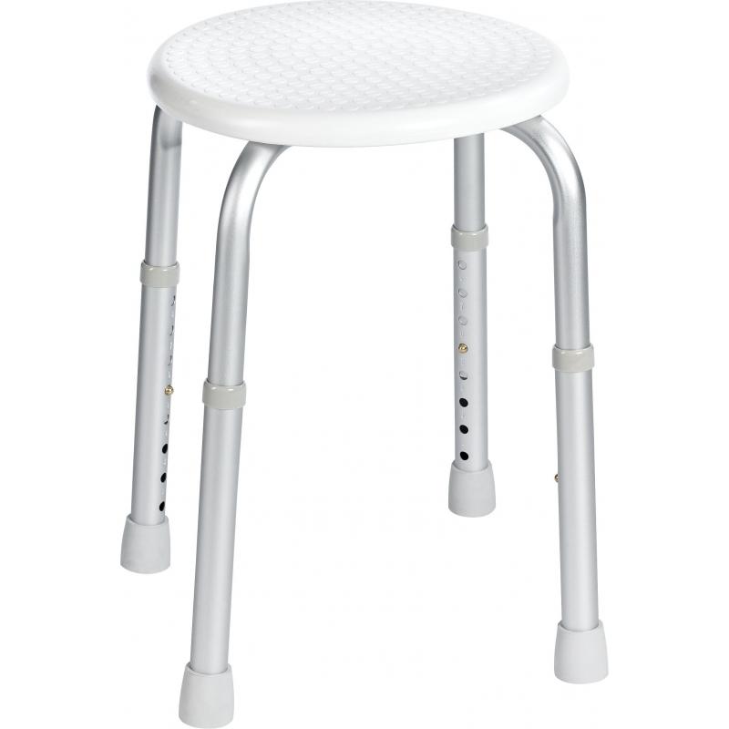 Tabouret salle de bains rond blanc SANIMAR - Mr.Bricolage