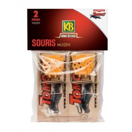 Piège anti nuisible Home Defense KB - À souris en bois - 2 pièges
