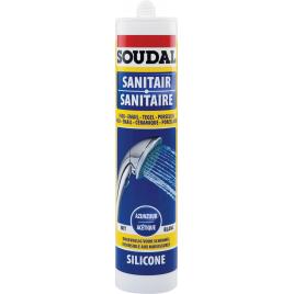 Silicone Sanitaire Acétique 310 ml SOUDAL - Blanc