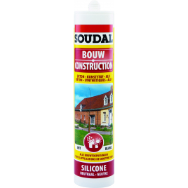 Silicone Construction 300 ml SOUDAL - Blanc
