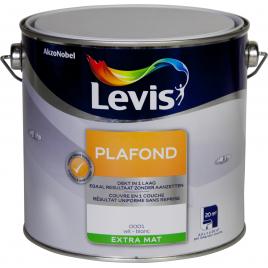 Peinture Plafond blanche extra mate 2,5 L LEVIS