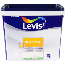 Peinture Plafond coquille d'oeuf extra mate 5 L LEVIS