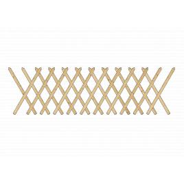 Clôture à croisllons 250 x 80 cm