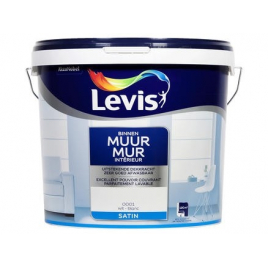 Peinture Mur Intérieur blanche satinée 10 L LEVIS