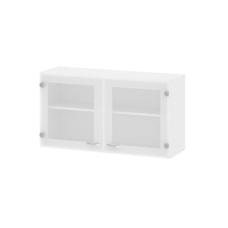 Meuble de cuisine haut casa blanc avec portes vitr es - Meuble cuisine haut porte vitree ...