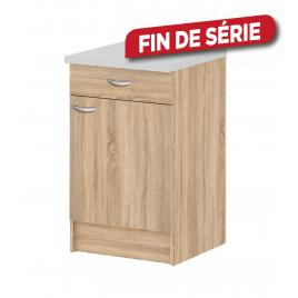 Meuble de cuisine bas Casa chêne avec 1 porte et 1 tiroir
