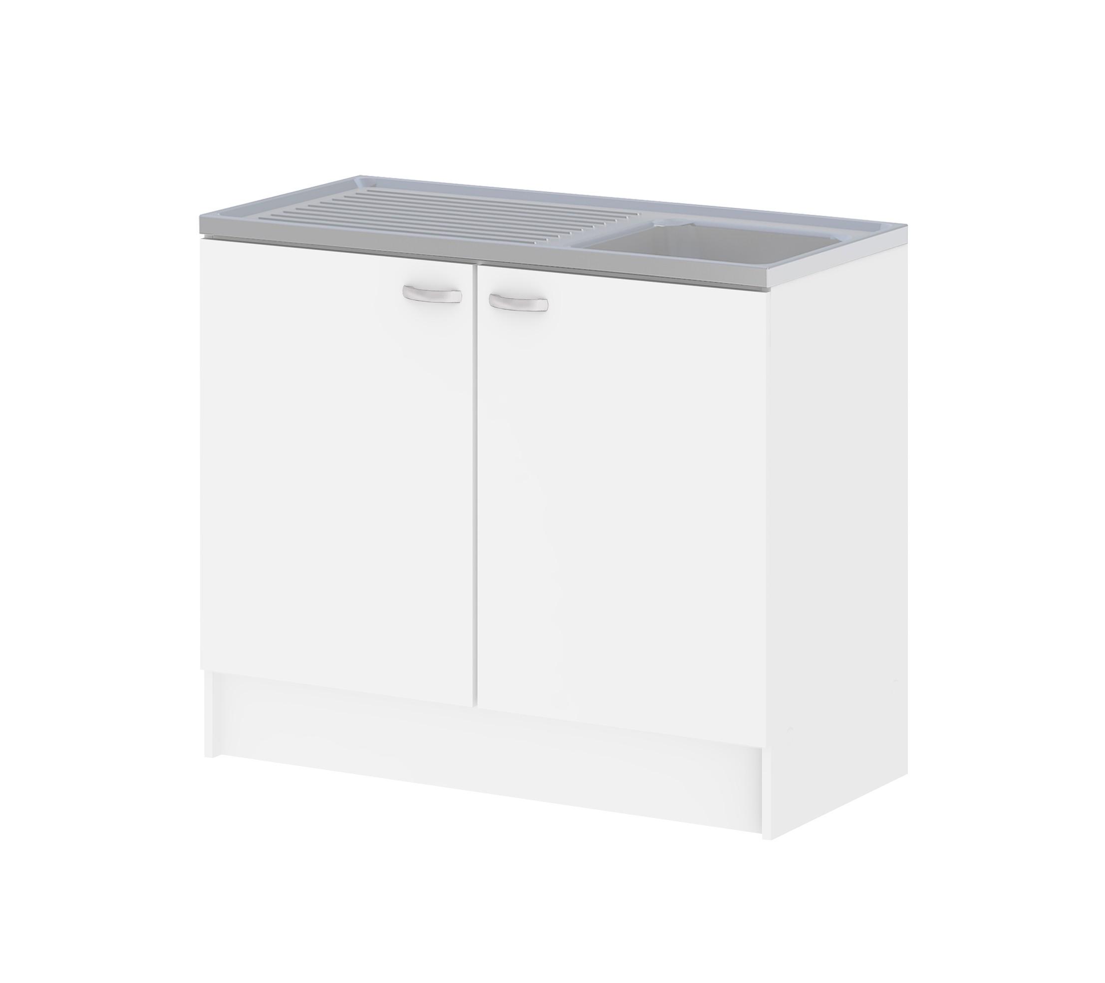 Organiser Meuble Sous Evier meuble de cuisine sous évier casa blanc avec 2 portes - mr.bricolage