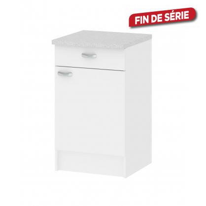 meuble de cuisine bas casa blanc avec 1 porte et 1 tiroir. Black Bedroom Furniture Sets. Home Design Ideas