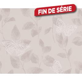 Papier peint Papillon taupe
