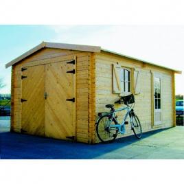 Garage 40 mm 3,58 x 5,38 m avec double porte SOLID