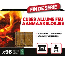 Cubes allume-feu 96 pièces BEVIL