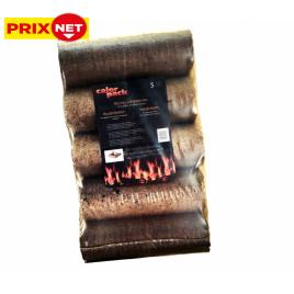 Bûches de chauffage en bois compressé 5 pièces