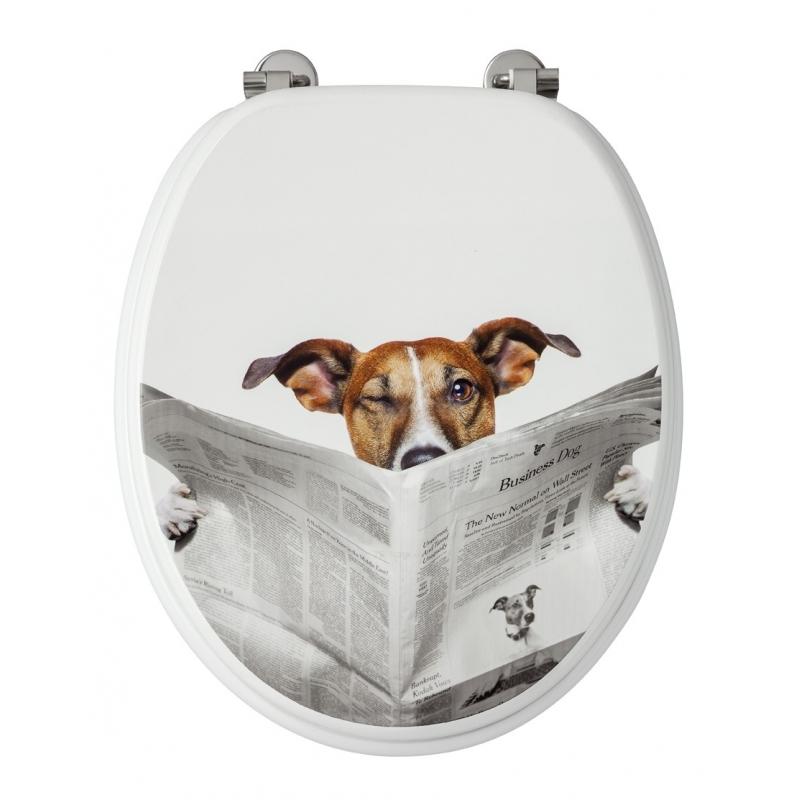 abattant de toilette business dog d cor en mdf allibert. Black Bedroom Furniture Sets. Home Design Ideas