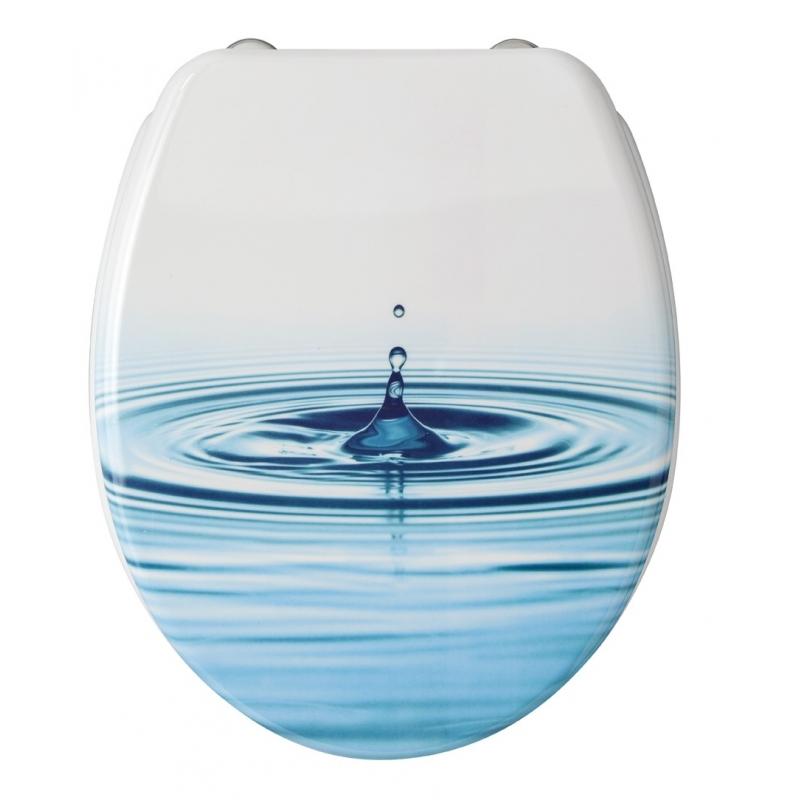 abattant de toilette goutte d 39 eau d cor en thermodur allibert. Black Bedroom Furniture Sets. Home Design Ideas