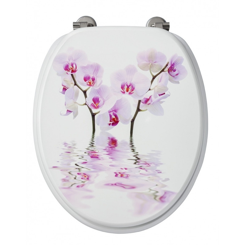 abattant de toilette orchid es d cor en mdf allibert. Black Bedroom Furniture Sets. Home Design Ideas