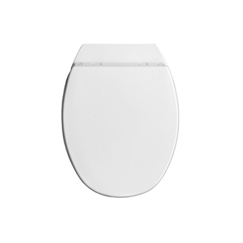 Abattant de toilette Paladin en bois compressé laqué blanc ALLIBERT